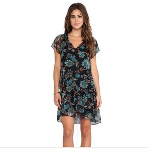 Ella Moss Revolve monarch dress black floral sheer